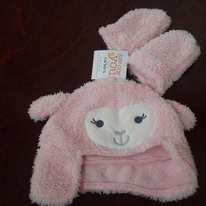 Carter's Lamb Sherpa Hat & Mittens NWT